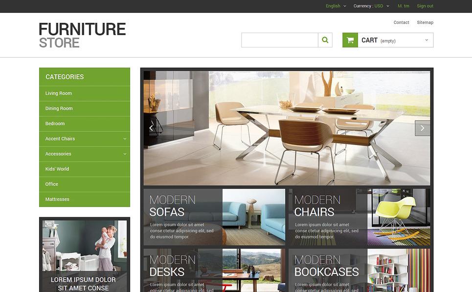 Reszponzív Bútorok PrestaShop sablon New Screenshots BIG