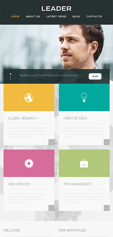 business html template at a price of 75