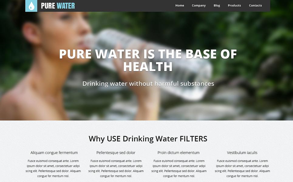 Responsywny szablon strony www #49211 na temat: woda New Screenshots BIG