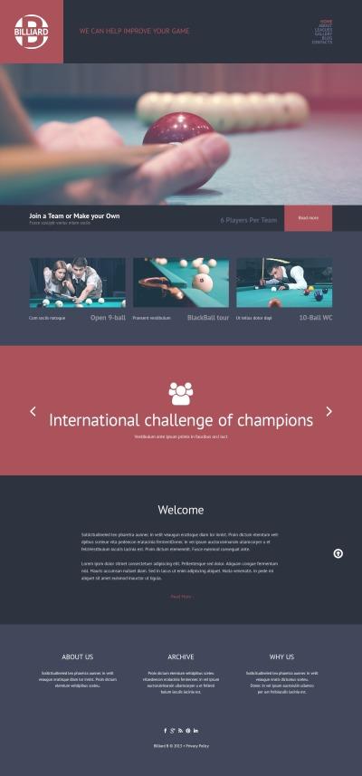 Biljard Responsivt WordPress-tema