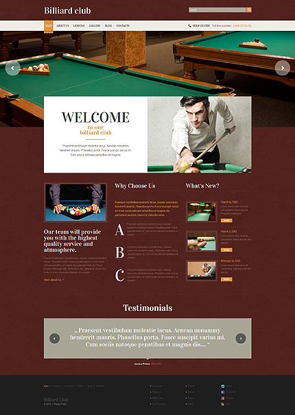 WordPress Theme/Template 49224 Main Page Screenshot