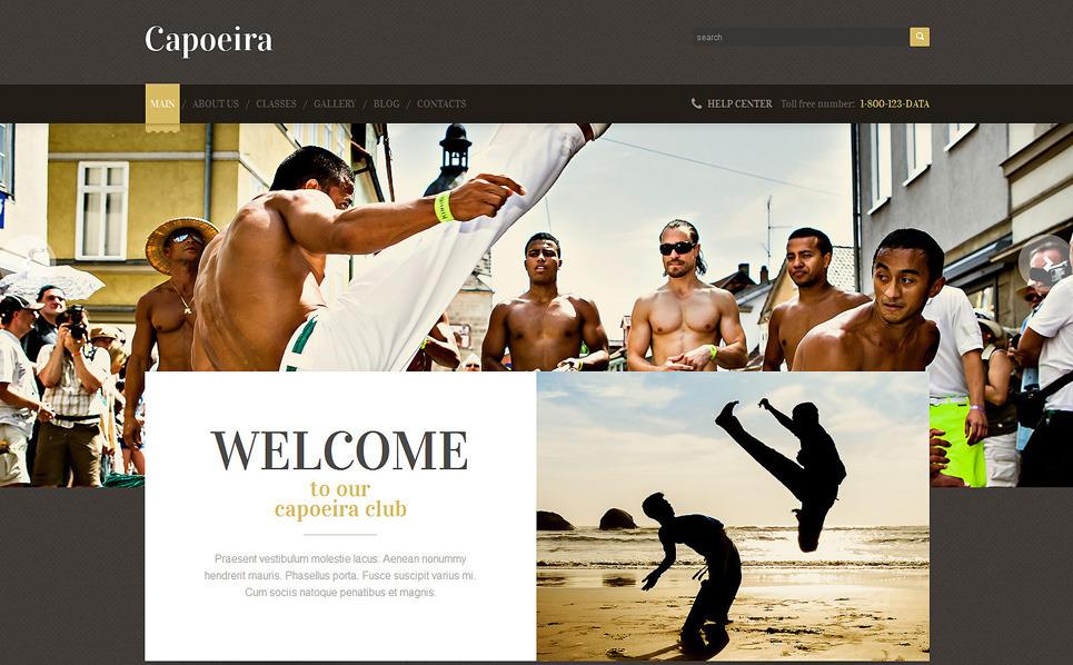 Reszponzív Küzdősportok WordPress sablon New Screenshots BIG
