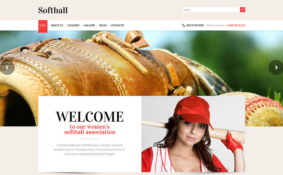 Responsywny motyw WordPress #49226 na temat: baseball New Screenshots BIG