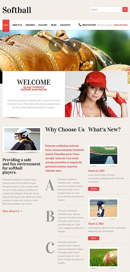 WordPress Theme/Template 49226 Main Page Screenshot