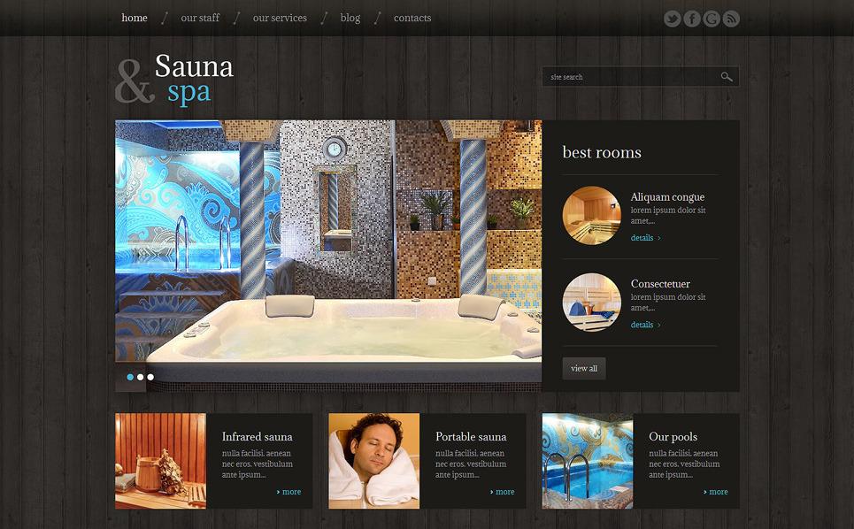 Responzivní WordPress motiv na téma Sauna New Screenshots BIG
