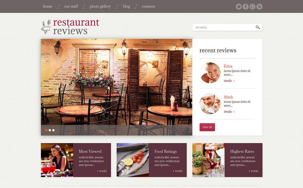 Адаптивний WordPress шаблон на тему ресторанні критики  New Screenshots BIG