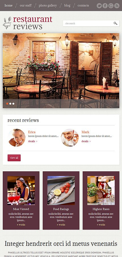 WordPress Theme/Template 49230 Main Page Screenshot