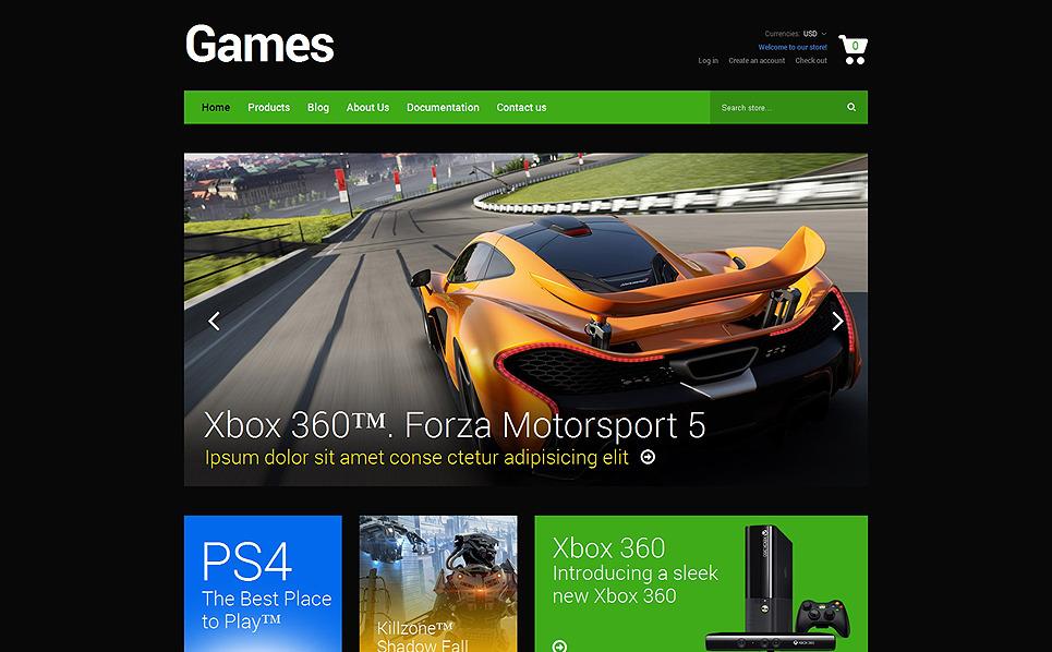 Reszponzív Játékok   Shopify sablon New Screenshots BIG