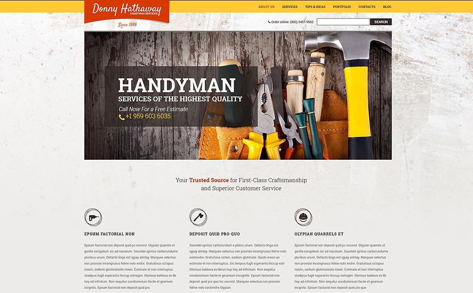 Plantilla Drupal #49237 para Sitio de Reparaciones del hogar New Screenshots BIG
