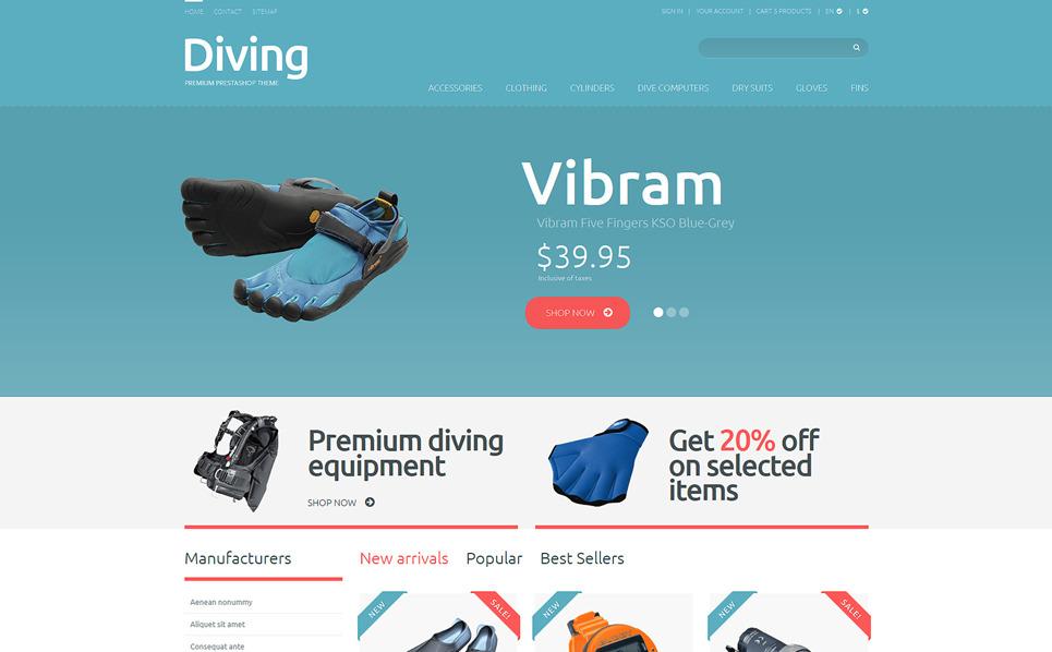 Responsywny szablon PrestaShop #49244 na temat: nurkowanie New Screenshots BIG