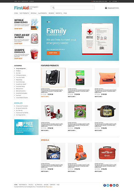 ZenCart Template 49253 Main Page Screenshot