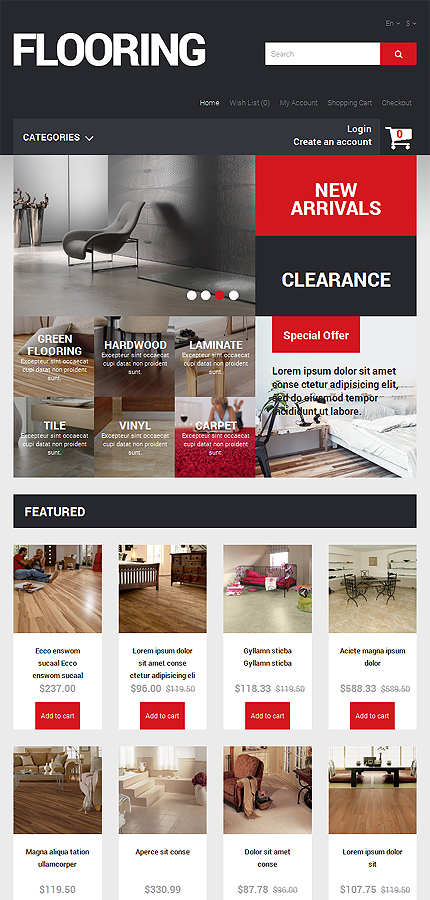 ADOBE Photoshop Template 49260 Home Page Screenshot