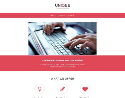 Web Design Newsletter Template