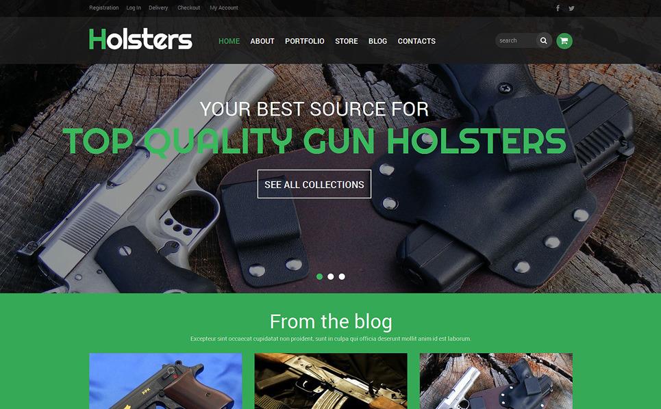 Reszponzív Fegyverszaküzlet WooCommerce sablon New Screenshots BIG