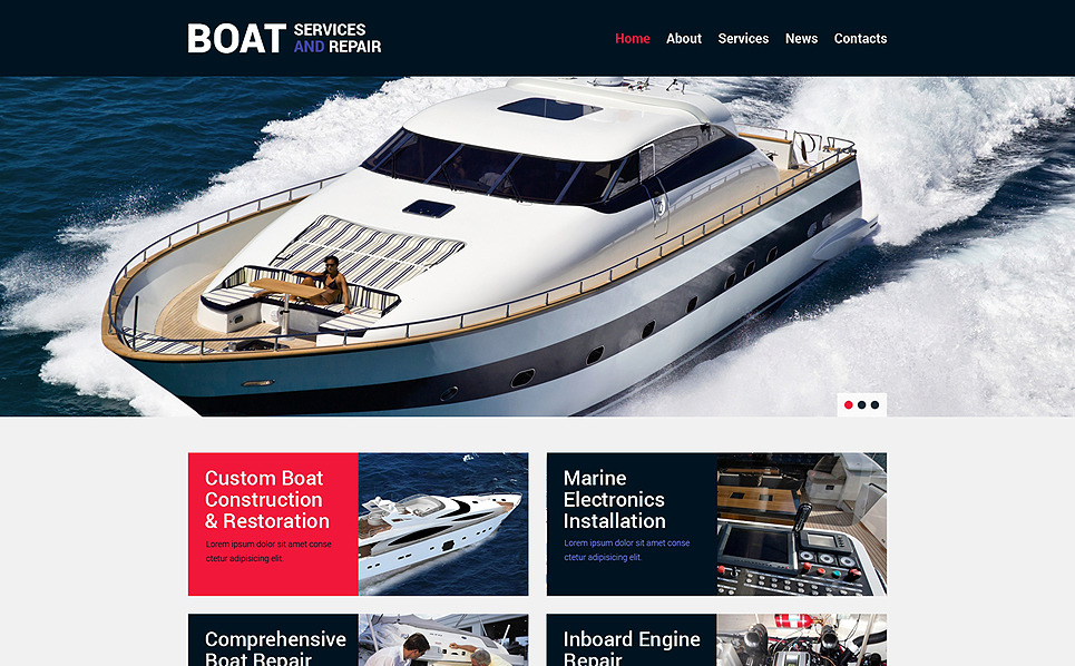 Tema Siti Web Responsive #49269 per Un Sito di Yachting New Screenshots BIG