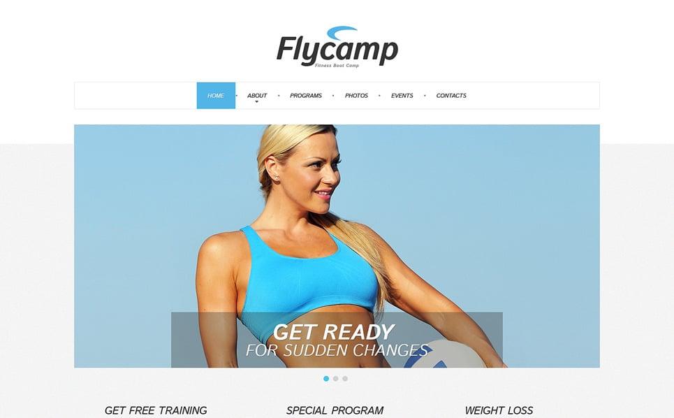 Template Web Flexível para Sites de Fitness №49270 New Screenshots BIG