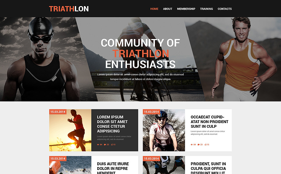 Modèle Web adaptatif  pour site de sport New Screenshots BIG