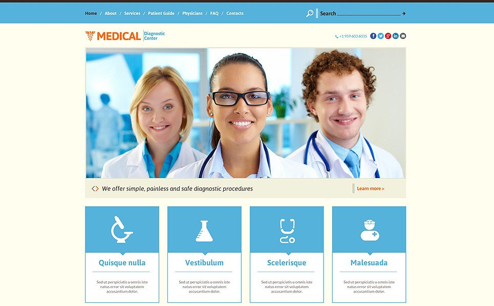 Plantilla Web Responsive para Sitio de Medicina New Screenshots BIG