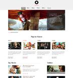 Entertainment Website  Template 49276