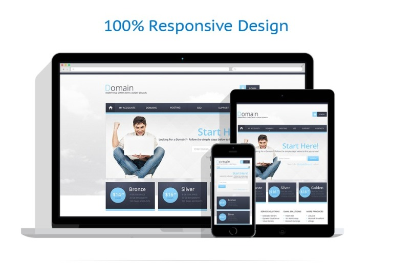 Hosting Responsive Website Template - Fresh virtual museum template design