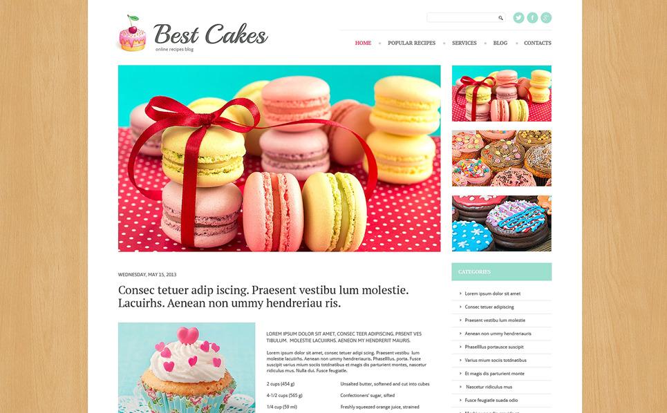 Responzivní WordPress motiv na téma Cukrárna New Screenshots BIG