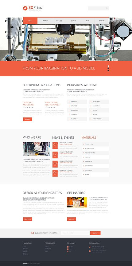 WordPress Theme/Template 49286 Main Page Screenshot