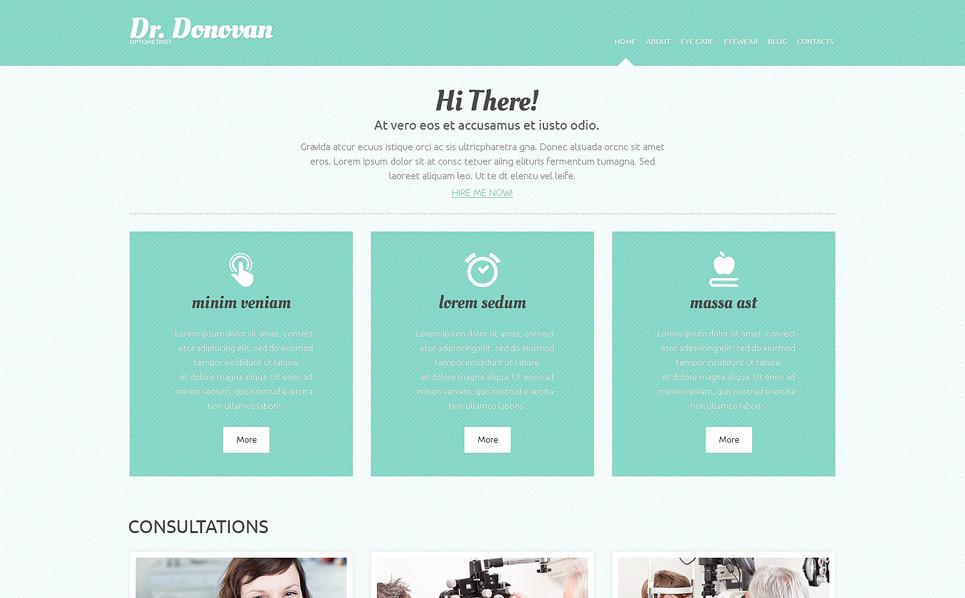 Responzivní WordPress motiv na téma Optometrista New Screenshots BIG