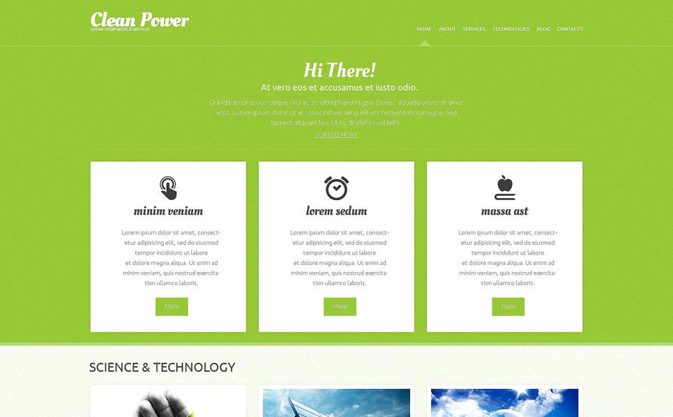 Responsive WordPress thema over Alternatieve Energiebronnen  New Screenshots BIG
