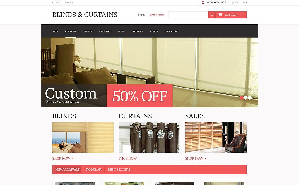 Tema PrestaShop  Flexível para Sites de Decoração de Janelas №49299 New Screenshots BIG