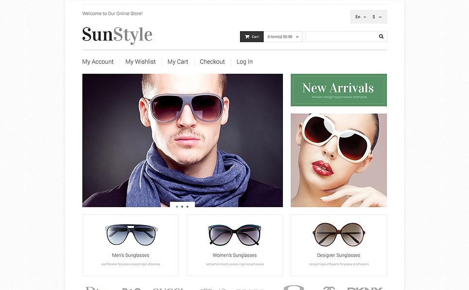 Адаптивний Magento шаблон на тему окуляри New Screenshots BIG