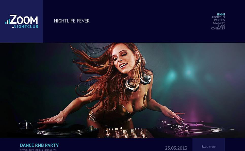 Адаптивний WordPress шаблон на тему нічний клуб New Screenshots BIG