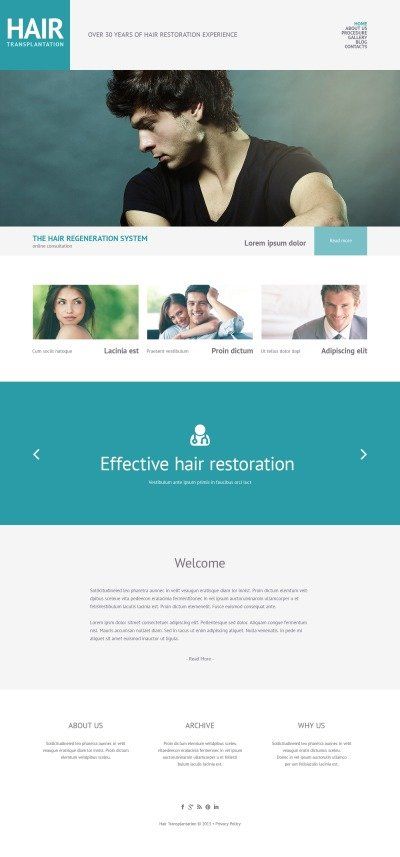 Hair Salon Responsive WordPress шаблон