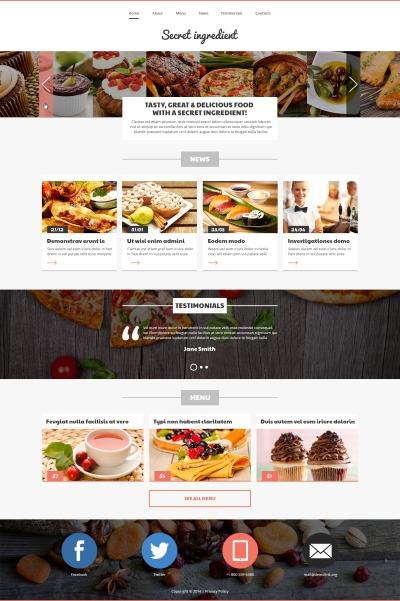 Адаптивный Joomla шаблон №49218 на тему кафе и ресторан