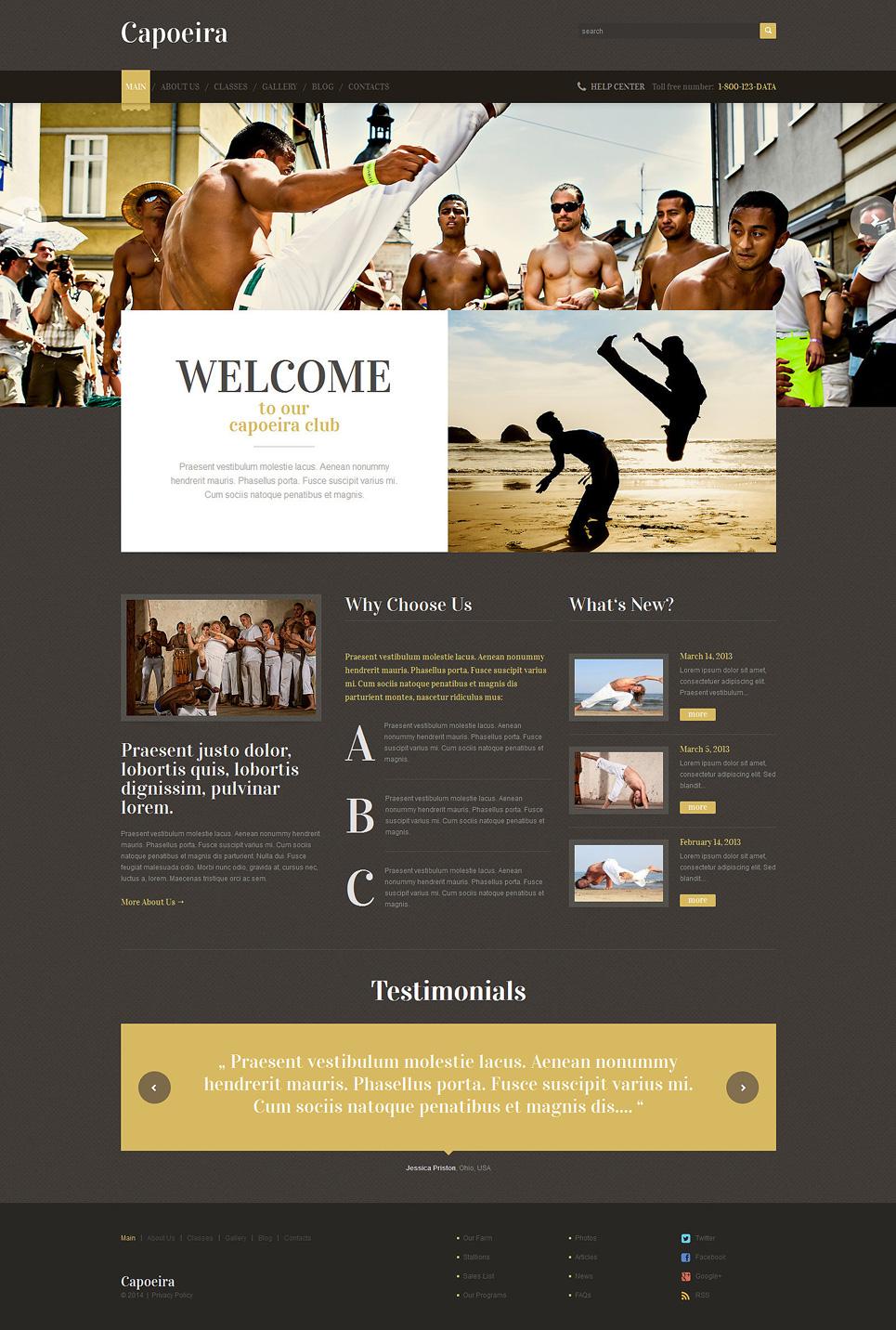 Адаптивный шаблон сайта на тему боевые искусства #49225