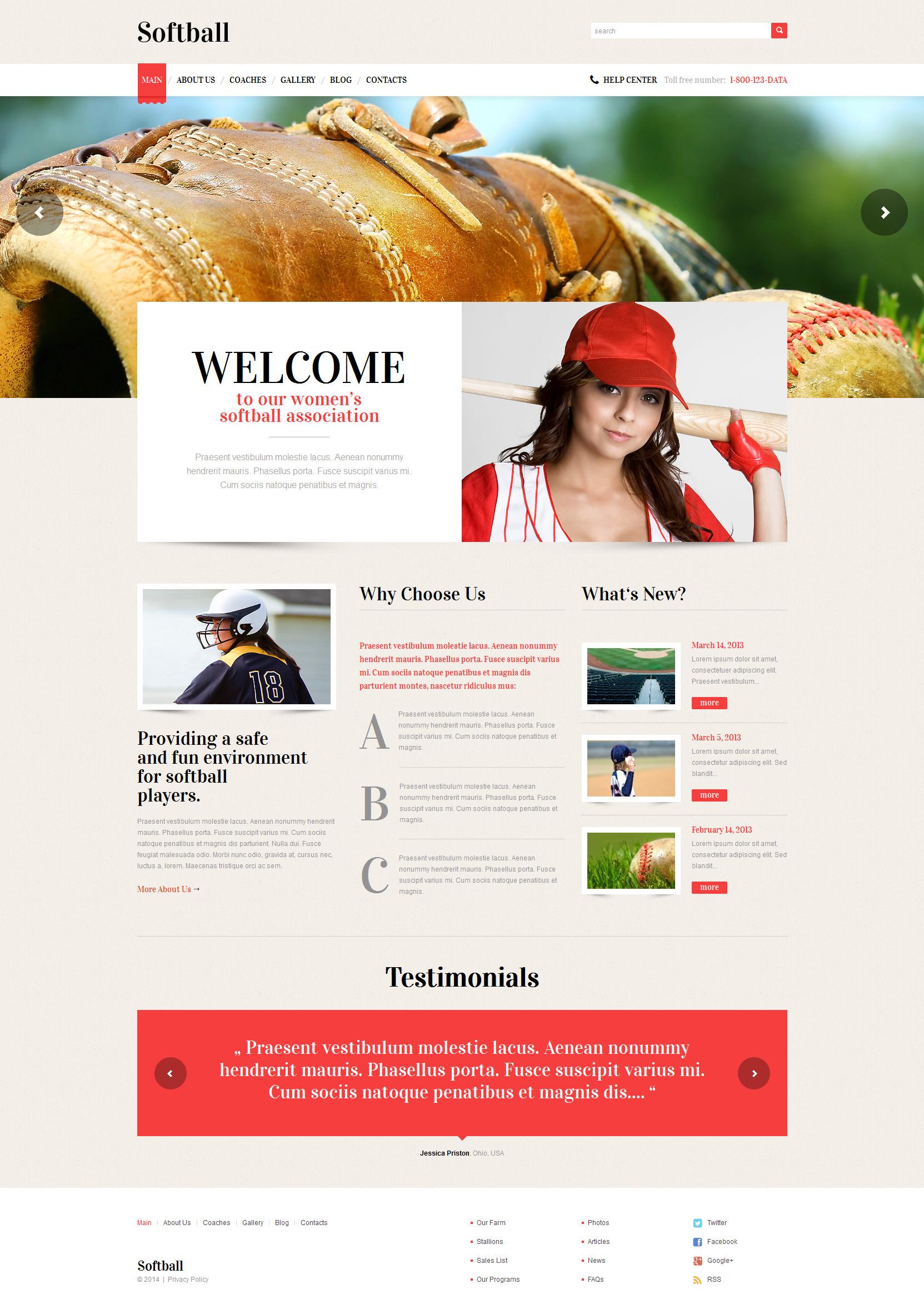 Адаптивный WordPress шаблон №49226 на тему бейсбол