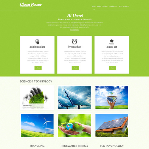 Clean Power - WordPress Template based on Bootstrap