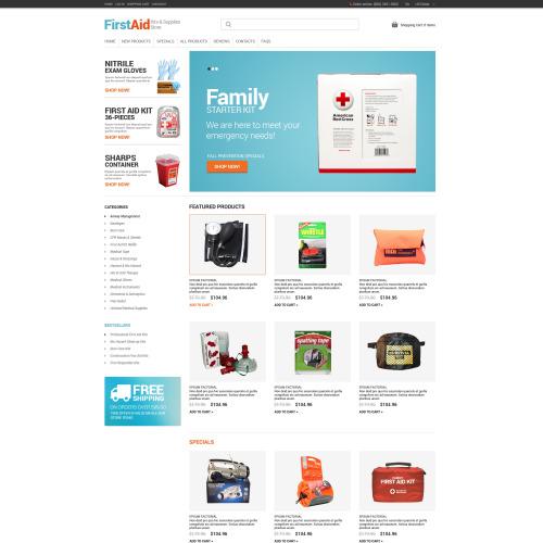 First Aid - HTML5 ZenCart Template