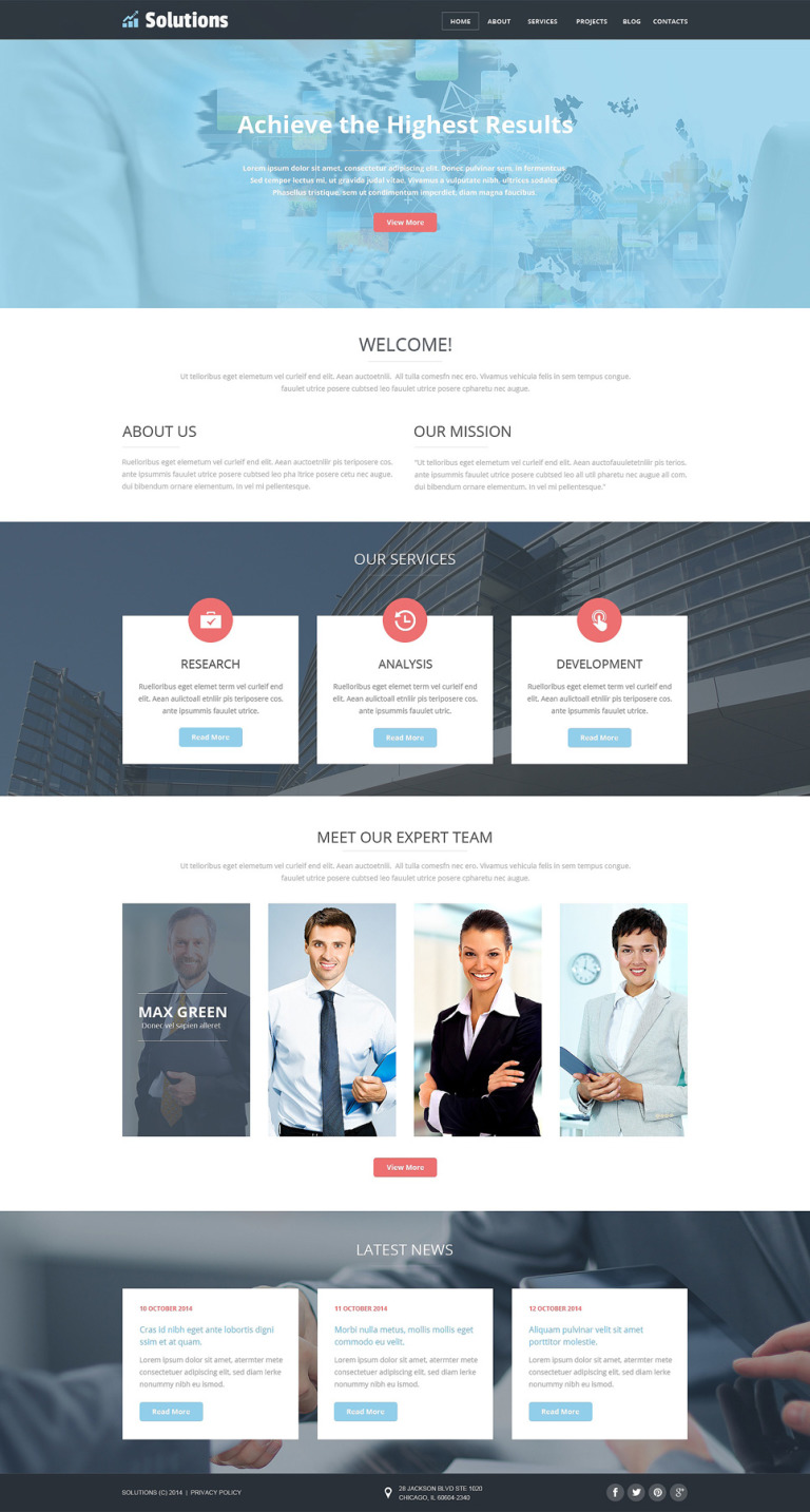 Business Web Joomla Template New Screenshots BIG