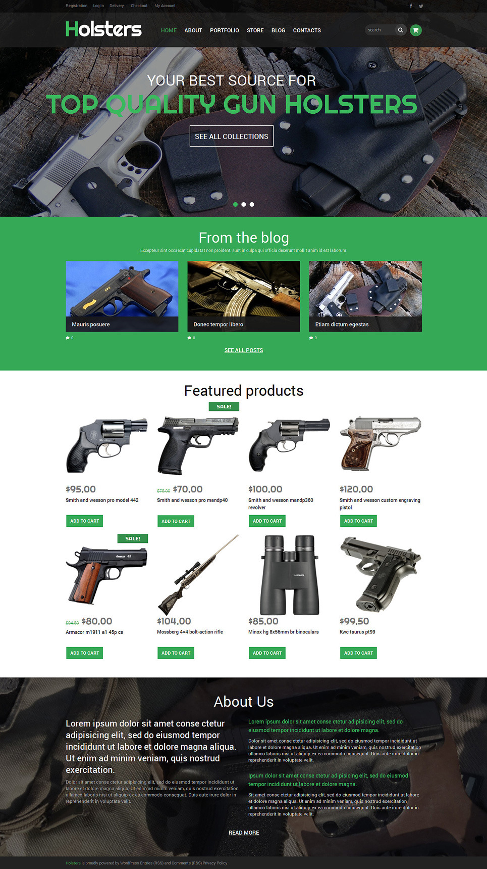 Buy Carry Holster Store WooCommerce Theme New Screenshots BIG