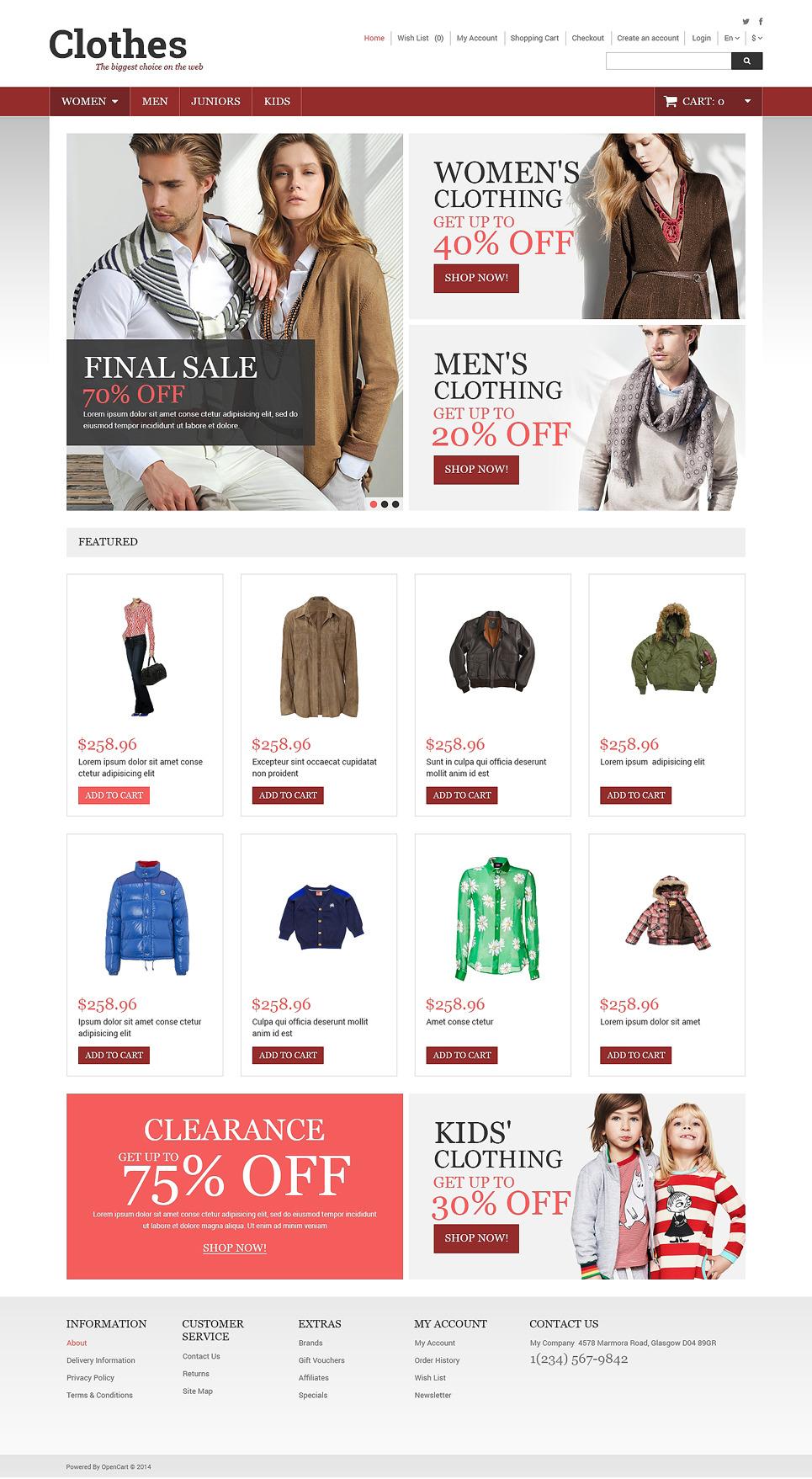 Clothes Store OpenCart Template New Screenshots BIG
