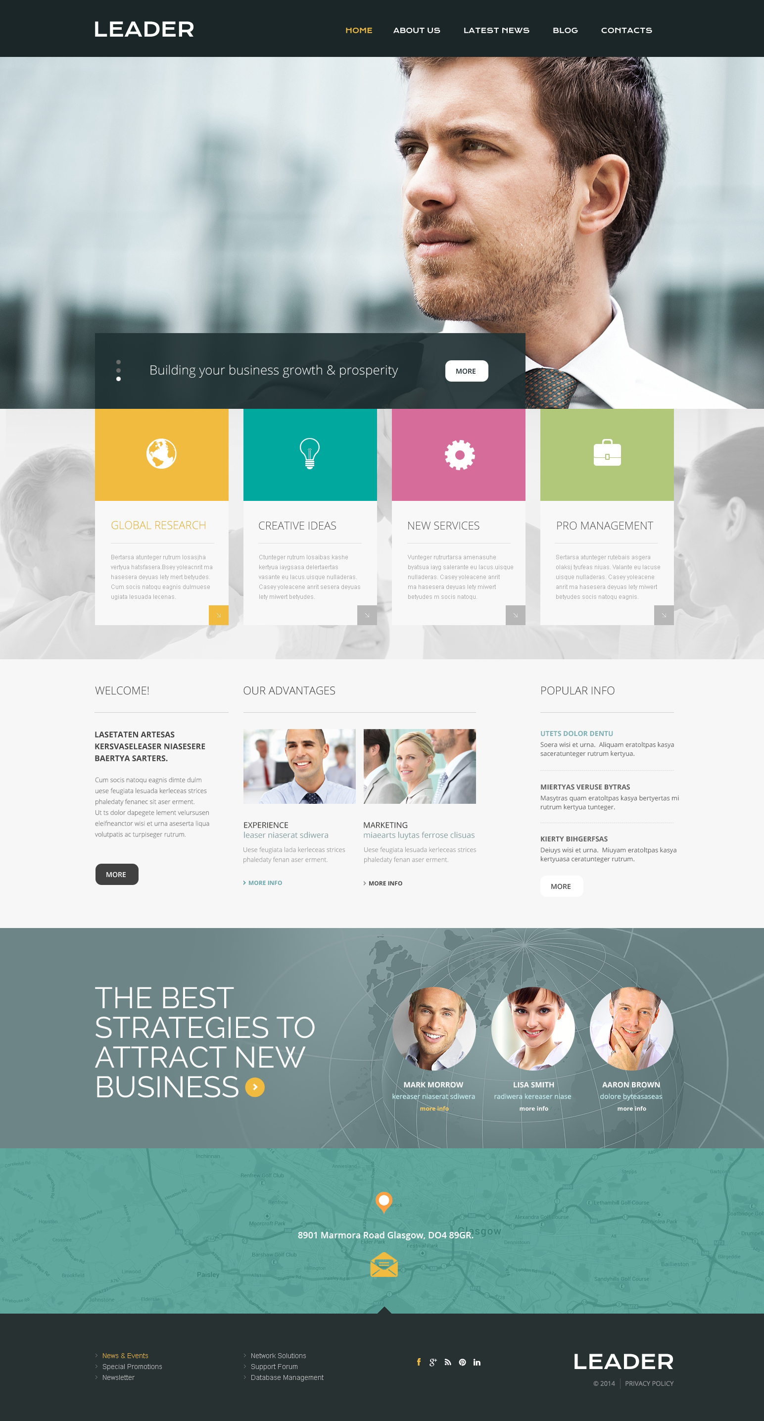 Consulting Responsive Website Template #49209