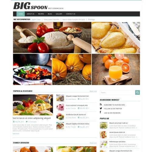 Big Spoon - WordPress Template based on Bootstrap