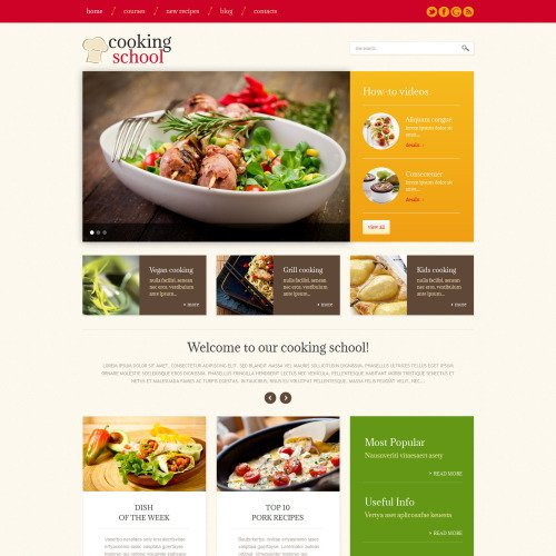 Cooking School - WordPress Template based on Bootstrap