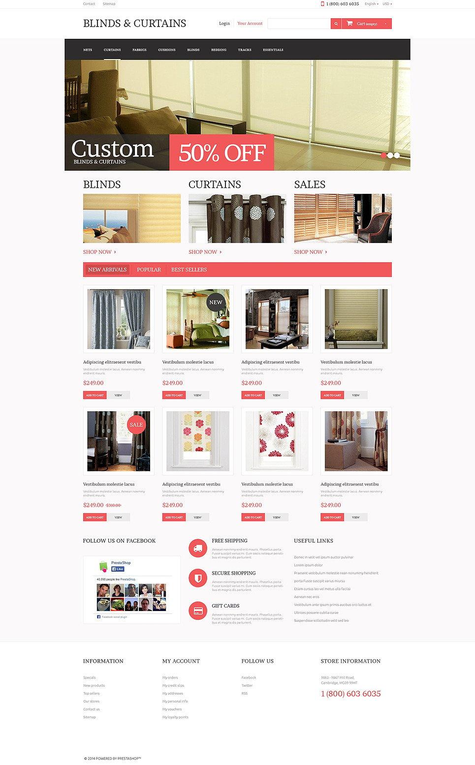 Curtains Store PrestaShop Theme New Screenshots BIG