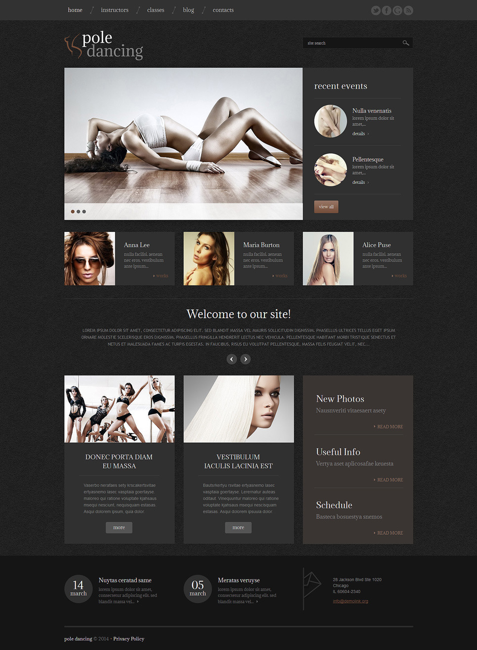 Dance Studio Responsive WordPress Theme New Screenshots BIG