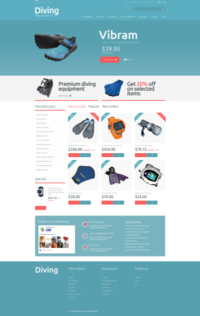 Diving Shop PrestaShop Theme