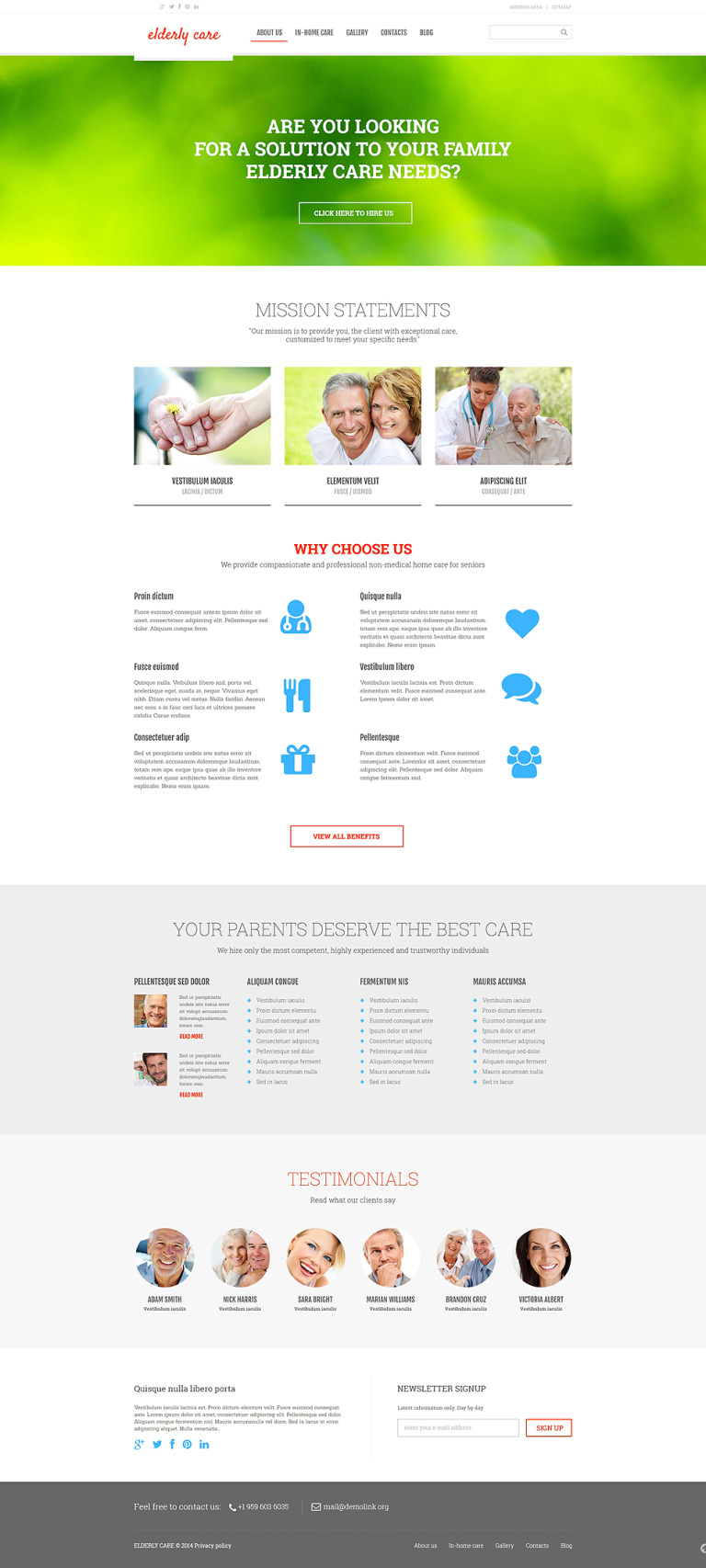 Elderly Care Responsive Joomla Template New Screenshots BIG