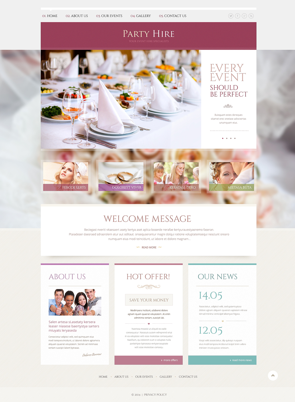event planner website design kevin c illustration