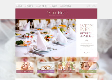 Event Planner Responsive