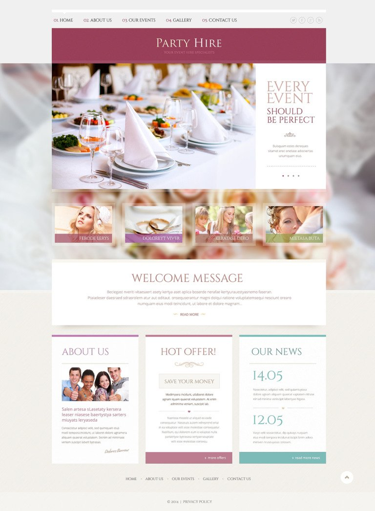 Event Planner Responsive Website Template New Screenshots BIG